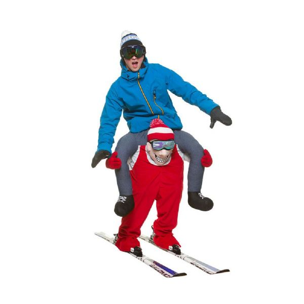 Adults Carry Me - Skiier Costume Sport Games Fancy Dress Cosplay